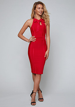 bebe Bow Tie Bandage Dress