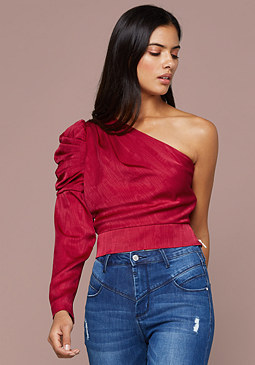 bebe Aubree One Shoulder Top