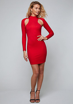 bebe Miriam Cutout Mini Dress