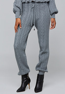 bebe Cable Knit Track Pants