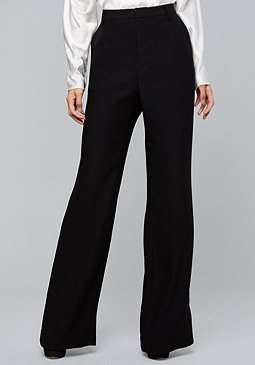 bebe Crepe Wide Leg Trousers