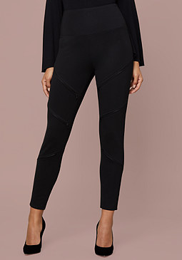bebe Zip Detail Leggings