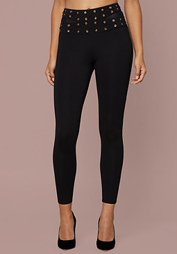 bebe Lace Up Waist Leggings