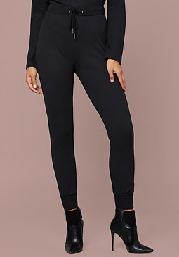 bebe Logo Thermal Jogger Pants