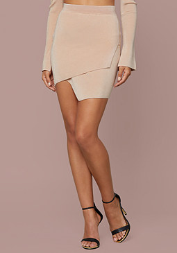 bebe Chana Ribbed Miniskirt