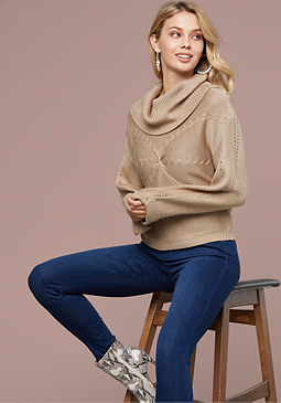 bebe Amalia Textured Sweater