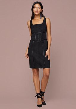 bebe Aimee Snake Jacquard Dress