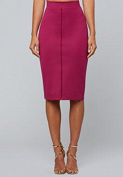 bebe Open Threadwork Midi Skirt