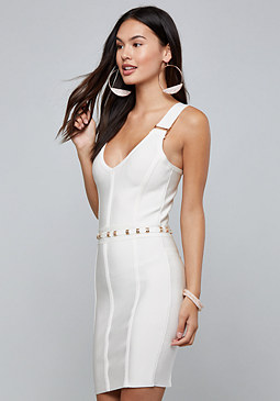bebe Carly Bandage Mini Dress