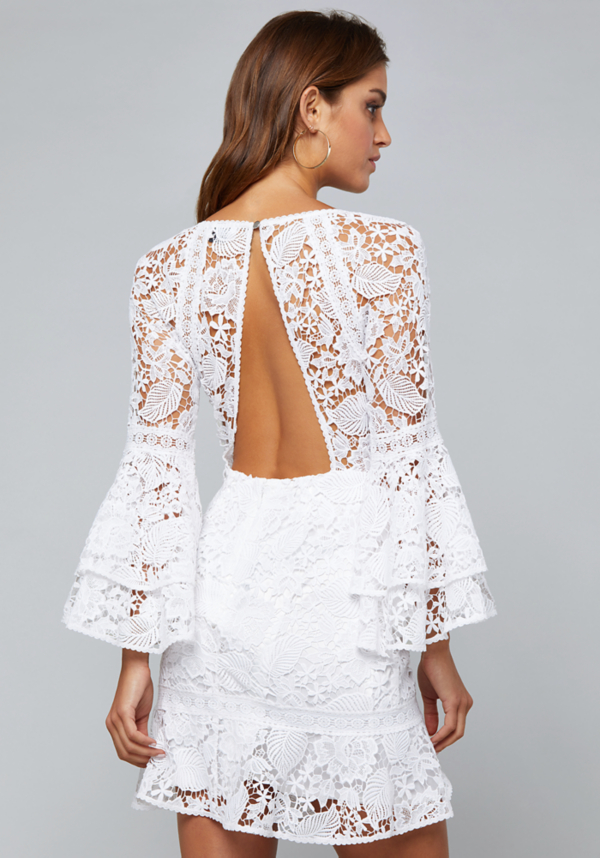Lace Open Back Dress | Tuggl
