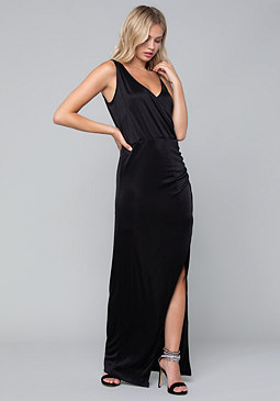 bebe Draped Surplice Gown