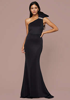 Glam Bow One Shoulder Gown