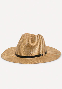 Gold Straw Panama Hat at bebe