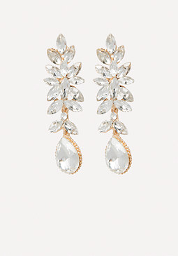 bebe Crystal Linear Earrings
