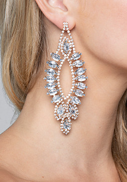 bebe Crystal Chandelier Earrings