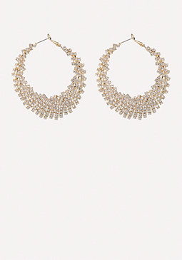 bebe Cutout Hoop Earrings