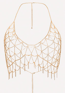 bebe Bra Chain Necklace
