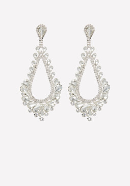 bebe Glam Teardrop Earrings