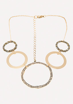 bebe Multi-Ring Necklace