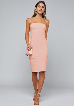 bebe Strapless Midi Dress