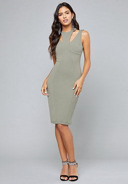 bebe Madelynne Cutout Midi Dress