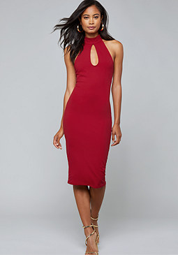 bebe Strappy Back Midi Dress