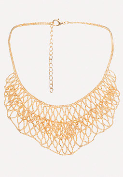 bebe Shot Bead Bib Necklace