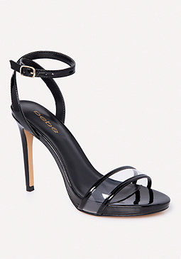 bebe Leeia Clear Strap Sandals
