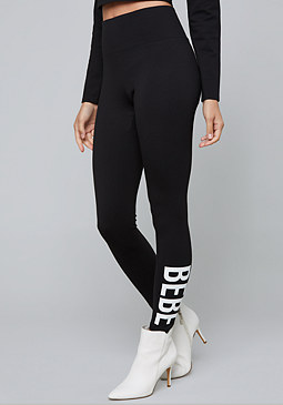 bebe Logo Ponte Leggings