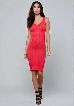 bebe Sweetheart Bodycon Dress