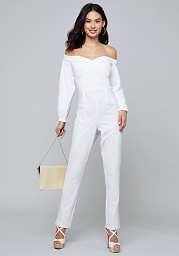 Bebe Zaria Off Shoulder Jumpsuit