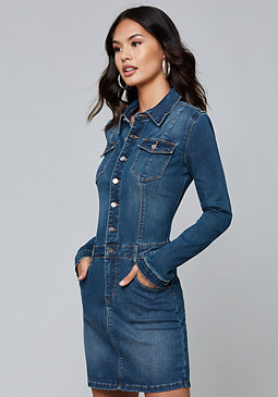 bebe Alexa Denim Dress
