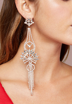 bebe Long Chandelier Earrings