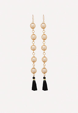 bebe Pearly Linear Earrings