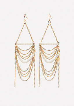 bebe Pearly Statement Earrings