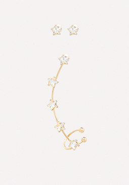 bebe Star Ear Crawler & Studs