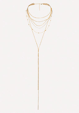 bebe Pearly Layered Necklace