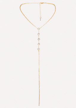 bebe Crystal Delicate Necklace