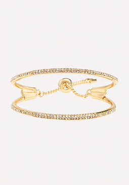 bebe Double Row Slider Bracelet