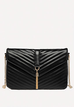 bebe Quilted Flat Crossbody Bag