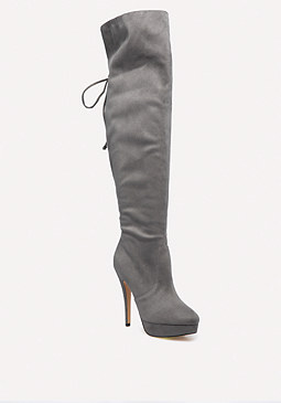 bebe Ariaa Lace Up Boots