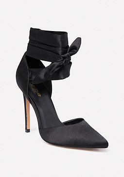 bebe Ellaa Satin Wrap Pumps