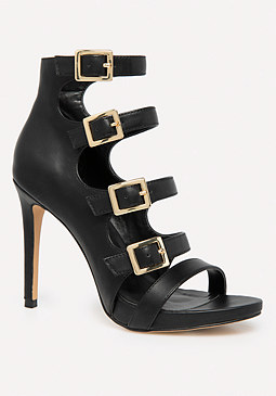 bebe Lylaa Buckle Strap Sandals