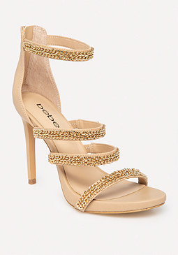 bebe Ariaa Chain Detail Sandals