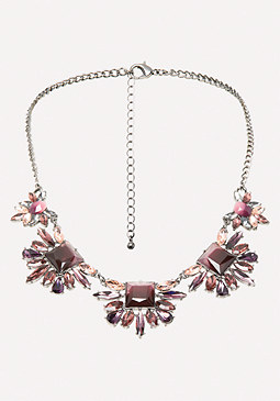 bebe Ombre Cluster Necklace