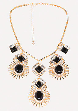 bebe Oval Gem Necklace