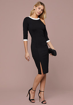 bebe Tamar Asymmetric Dress