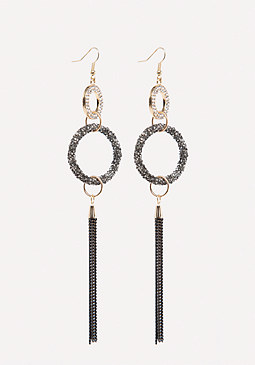 bebe Druzy Duster Earrings