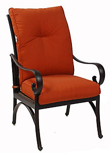 Alu mont santa barbara dining chair paprika patio for Alumont outdoor furniture