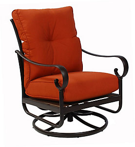 Alu Mont Santa Barbara Swivel Rocking Lounge Paprika